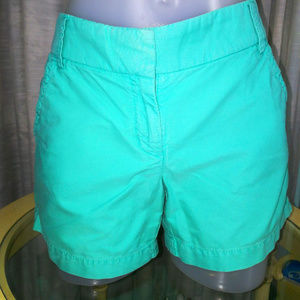 J Crew Mint Teal Shorts & Ribbed Tank Top Bundle